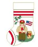 click here to view larger image of Boy Scout Mini Sock (hand painted canvases)