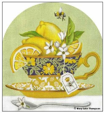 click here to view larger image of Lemon Cup (hand painted canvases)