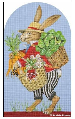 click here to view larger image of Garden Bunny (hand painted canvases)