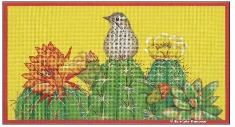 click here to view larger image of Cactus Wren (hand painted canvases)