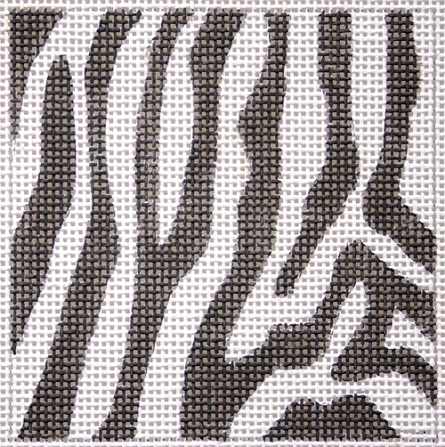 click here to view larger image of Zebra Skin Coaster (hand painted canvases)