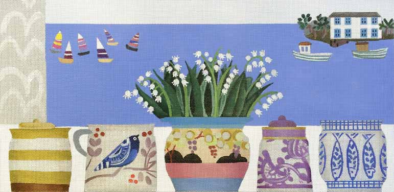 click here to view larger image of Lily of the Valley by the Sea (hand painted canvases)
