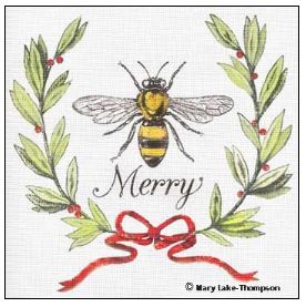click here to view larger image of Bee Merry (hand painted canvases)