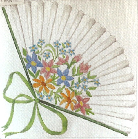 click here to view larger image of Victorian Fan Bouquet (hand painted canvases)