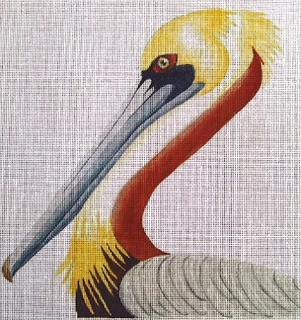 click here to view larger image of Pelican Portrait (hand painted canvases)
