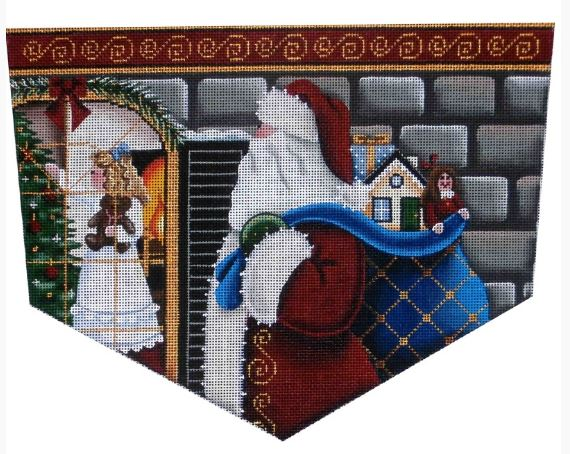 click here to view larger image of Christmas Eve Magic - Girl - Topper - 13ct (hand painted canvases)
