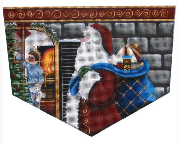 click here to view larger image of Christmas Eve Magic - Boy - Topper - 18ct (hand painted canvases)