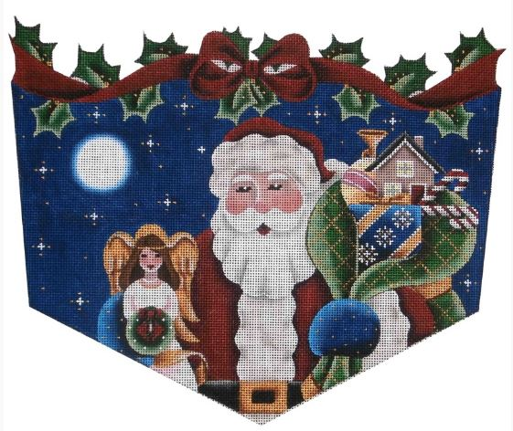 click here to view larger image of Angel Topper Santa - 13ct (hand painted canvases)