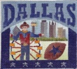 click here to view larger image of Dallas Postcard (hand painted canvases)
