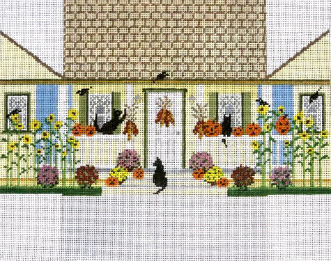 click here to view larger image of Autumn House Brick Cover (hand painted canvases)