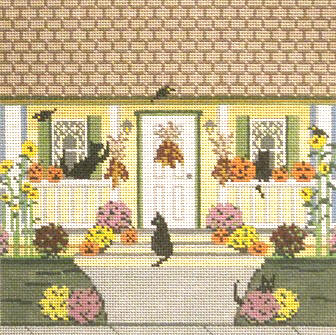 click here to view larger image of Autumn House Square (hand painted canvases)