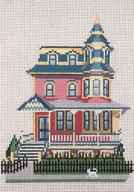 click here to view larger image of Columbia House - 13ct (hand painted canvases)