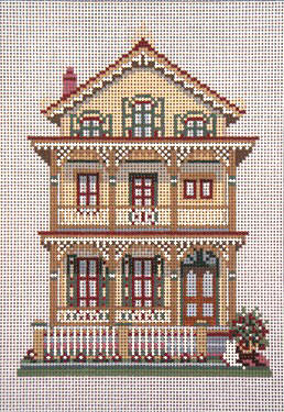 click here to view larger image of Gingerbread House, The - 13ct (hand painted canvases)