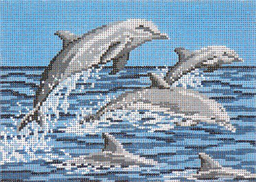 Frolicking Dolphins - 18ct - click here for more details