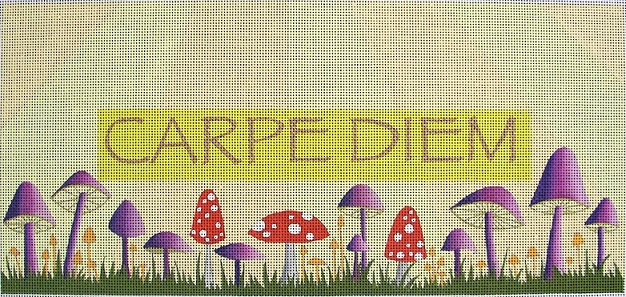 click here to view larger image of Carpe Diem - 13ct (hand painted canvases)