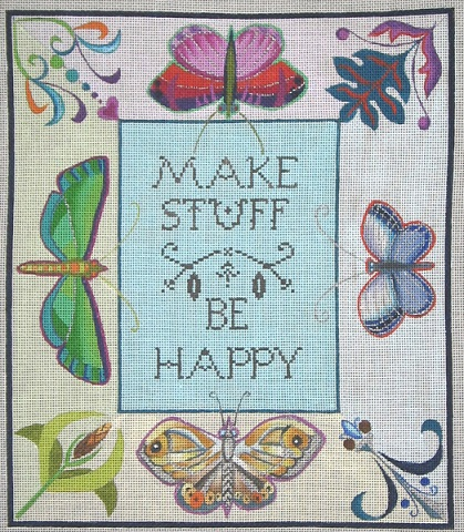 click here to view larger image of Make Stuff (hand painted canvases)