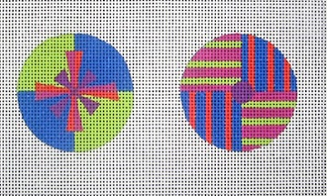 click here to view larger image of Quadrant Ornaments (hand painted canvases)