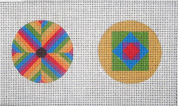 click here to view larger image of Rainbow Ornaments (hand painted canvases)