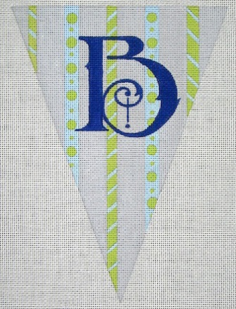 click here to view larger image of Alphabet Flag - B (hand painted canvases)