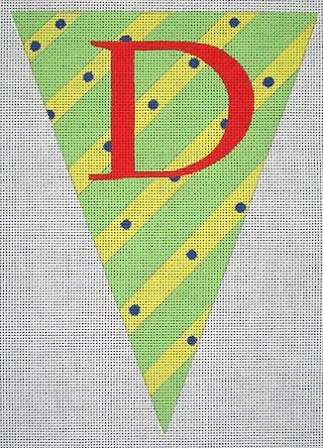 click here to view larger image of Alphabet Flag - D (hand painted canvases)