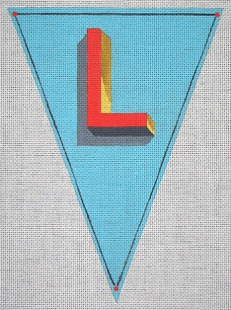 click here to view larger image of Alphabet Flag - L (hand painted canvases)