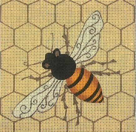click here to view larger image of Bee Square (hand painted canvases)