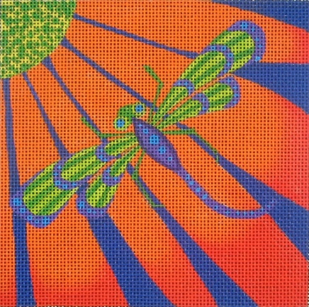 click here to view larger image of Dragonfly Square (hand painted canvases)