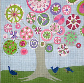 click here to view larger image of Tree of Life - Spring - 13ct (hand painted canvases)