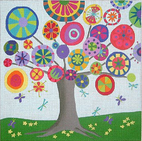 click here to view larger image of Tree of Life - Summer - 13ct (hand painted canvases)