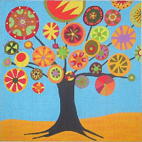 click here to view larger image of Tree of Life - Fall - 13ct (hand painted canvases)