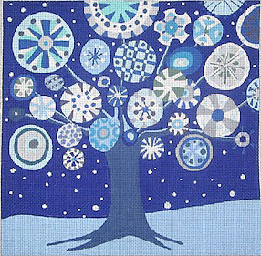 click here to view larger image of Tree of Life - Winter - 13ct (hand painted canvases)