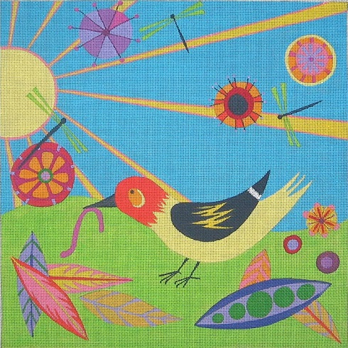 click here to view larger image of Large Early Bird - 13ct (hand painted canvases)