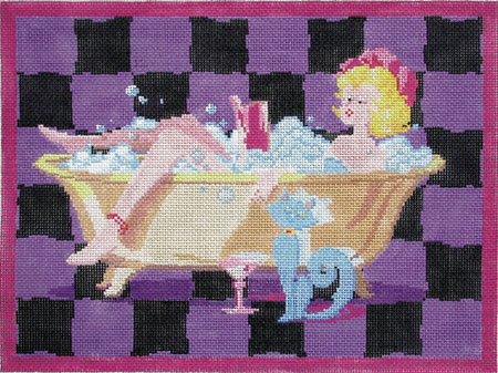 click here to view larger image of Bathtub Lady - 18ct (hand painted canvases)