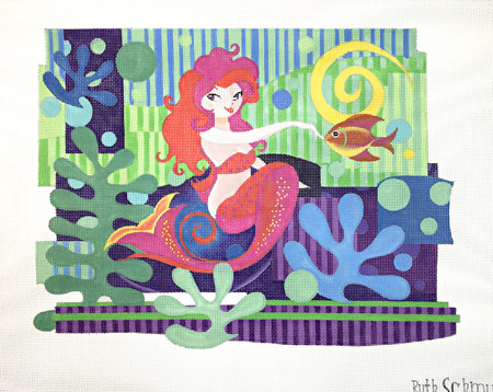click here to view larger image of Matisse Mermaid (hand painted canvases)