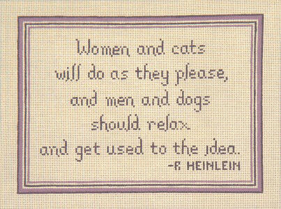 click here to view larger image of Women and Cat (hand painted canvases)