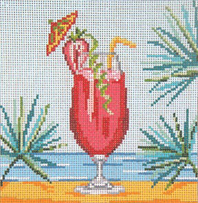 click here to view larger image of Strawberry Daiquiri - 18ct  (hand painted canvases)