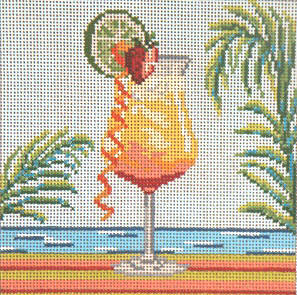 click here to view larger image of Tequila Sunrise - 13ct  (hand painted canvases)