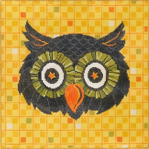 click here to view larger image of Give A Hoot (hand painted canvases)