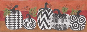 click here to view larger image of Funky Punkins (hand painted canvases)