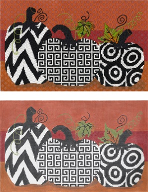 click here to view larger image of Funky Punkins B (hand painted canvases)
