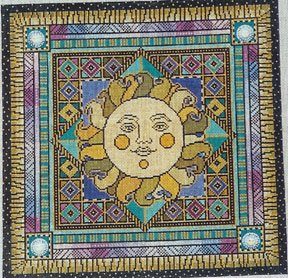 click here to view larger image of Sun (hand painted canvases)