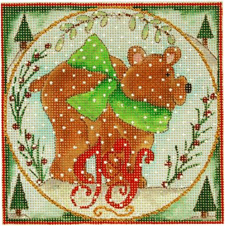 click here to view larger image of Woodland Wishes - The Bear (Small) (hand painted canvases)