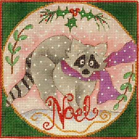 click here to view larger image of Woodland Wishes - The Raccoon (Small) (hand painted canvases)