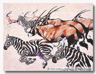 click here to view larger image of Serengeti Tapestry (hand painted canvases)
