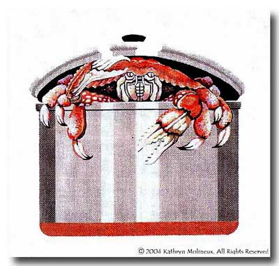 click here to view larger image of Crab Pot (hand painted canvases)
