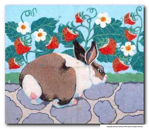 click here to view larger image of Childs Rabbit Directors Chair Seat (hand painted canvases)