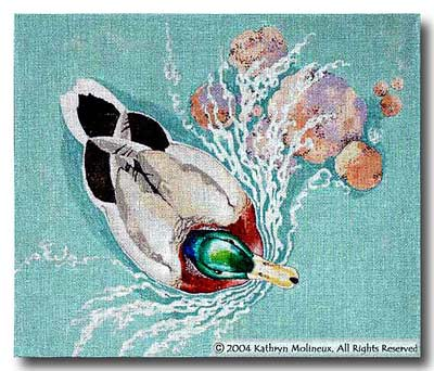 click here to view larger image of Duck Directors Chair Seat (hand painted canvases)