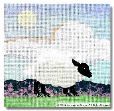 click here to view larger image of And Day (Sheep) (hand painted canvases)