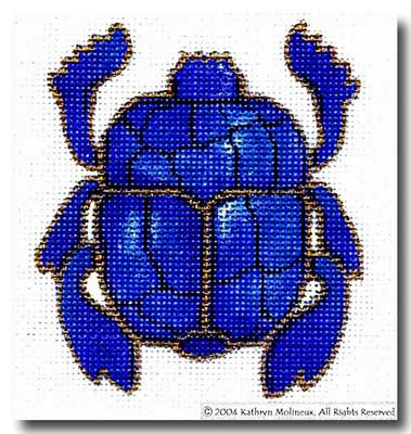 click here to view larger image of Scarab (hand painted canvases)