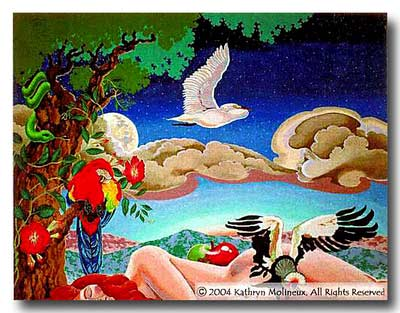 click here to view larger image of Garden of Eden Rug (hand painted canvases)